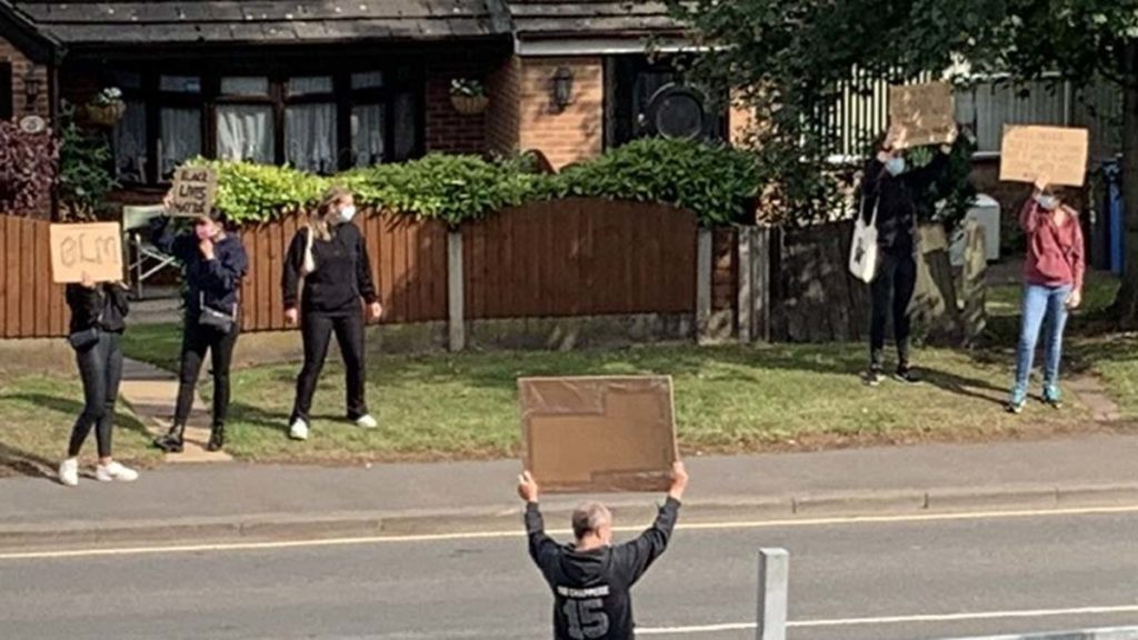 Black Lives Matter protest in Lichfield