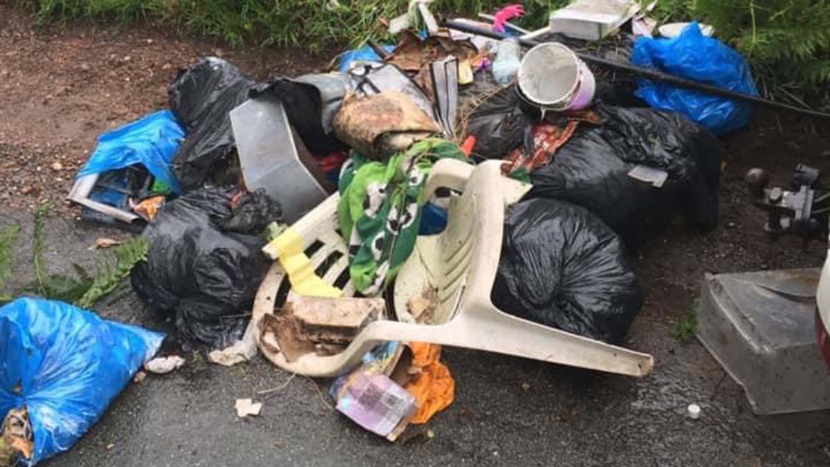 The waste dumped in Hammerwich