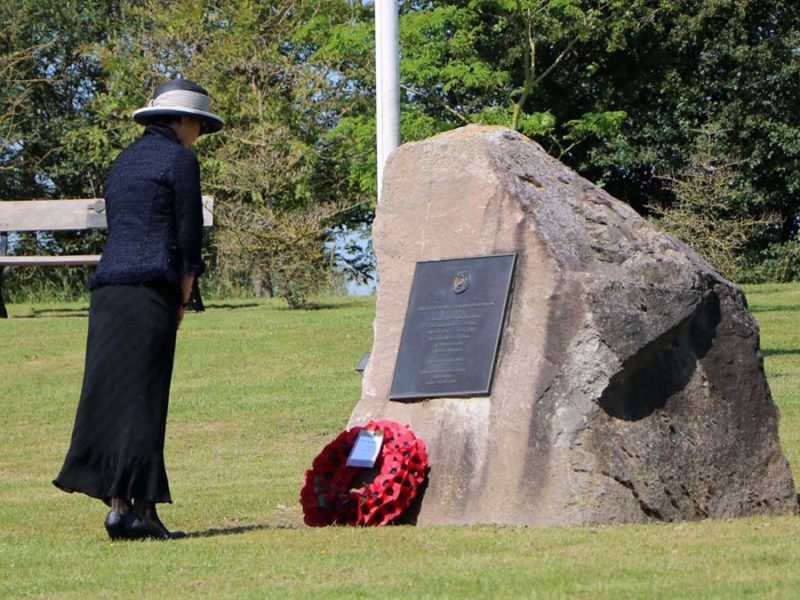 Enna Park laying a wreath at the National Memorial Arboretum