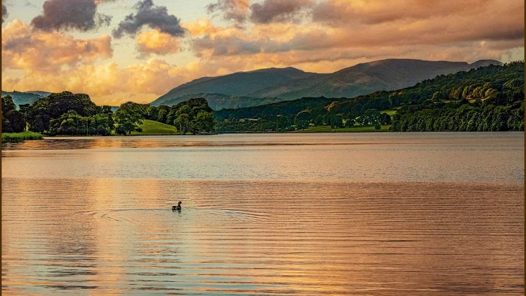 Evening Over Esthwaite Water - Ivan Shaw