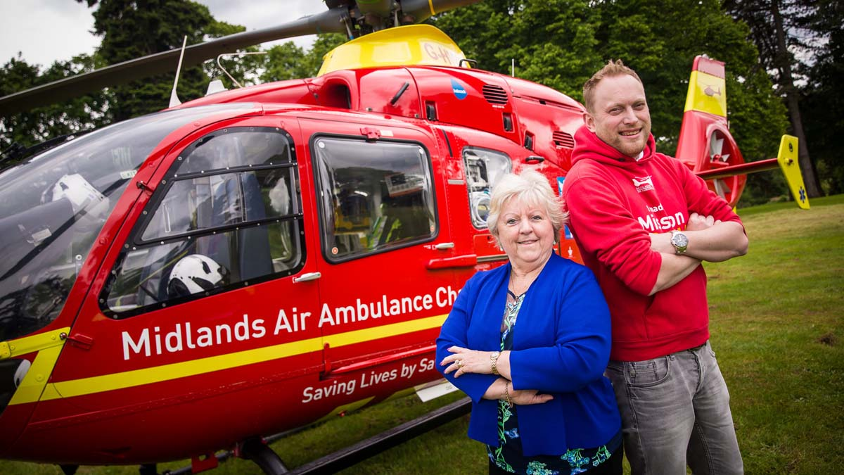Midlands Air Ambulance supporters