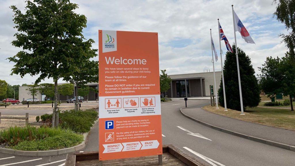 New signage at the National Memorial Arboretum