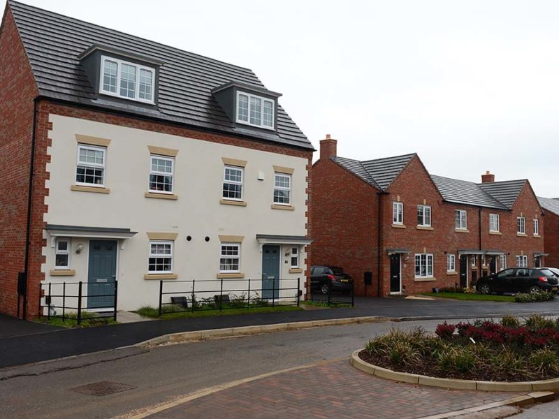 The new Bellway development in Fradley