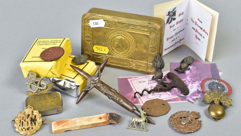 Some of the items in David Bryant's collection