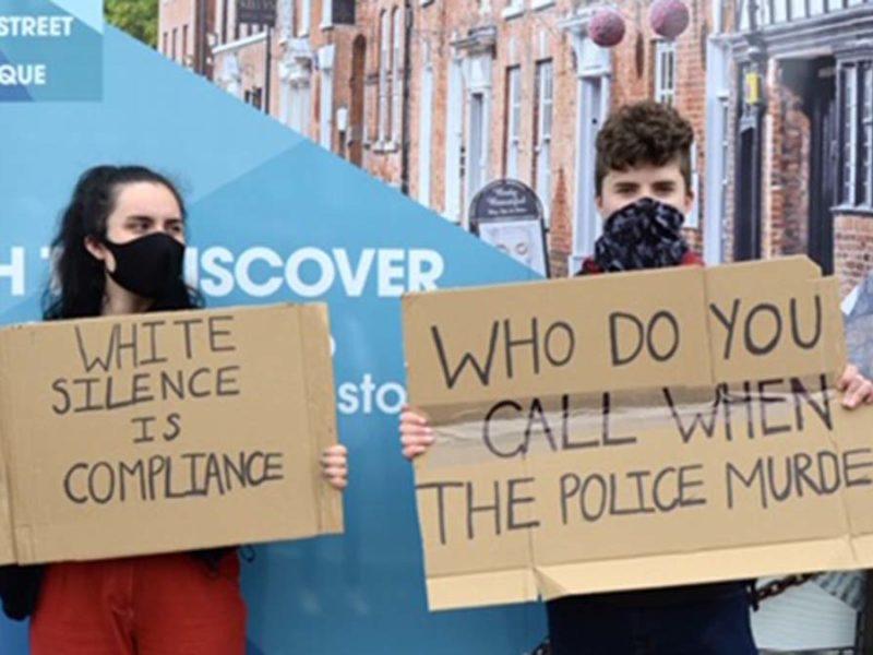 Black Lives Matter Protest in Lichfield. Picture: Georgia Hill