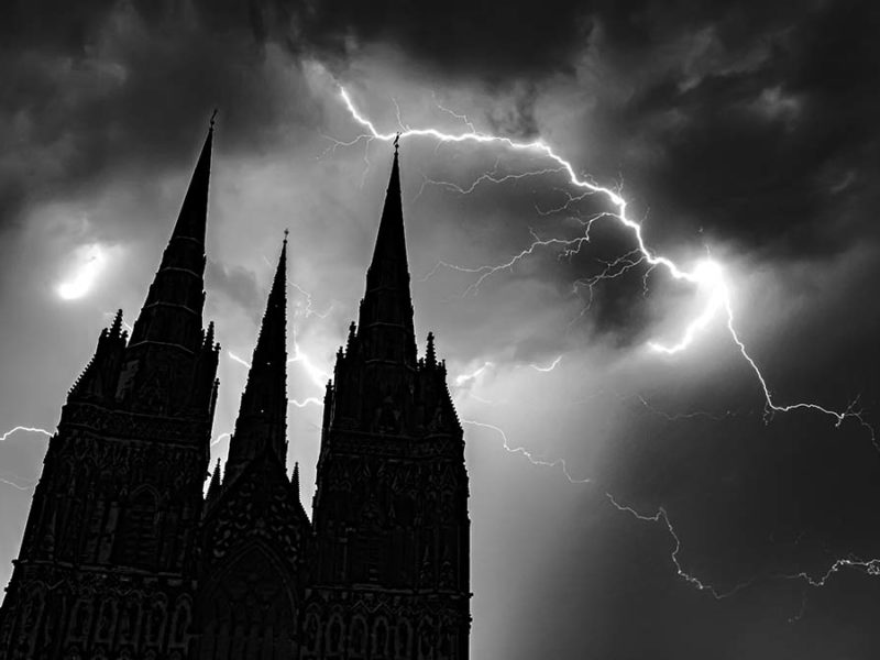 Lightning over Lichfield Cathedral. Picture: Peter Walker Sculpture
