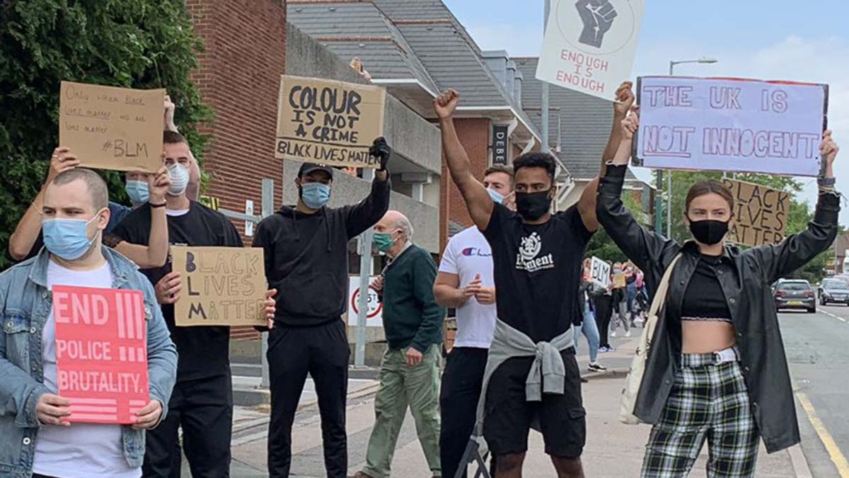 Black Lives Matter protest in Lichfield