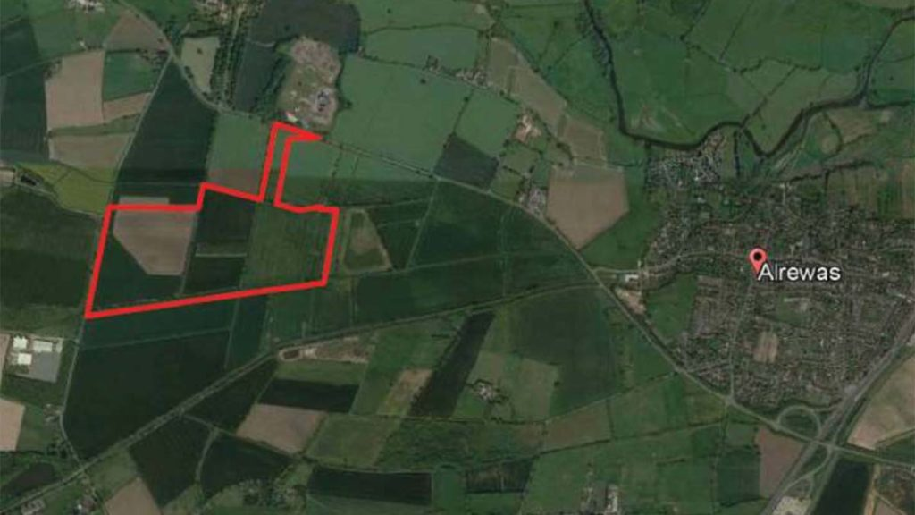 The site earmarked for the new quarry