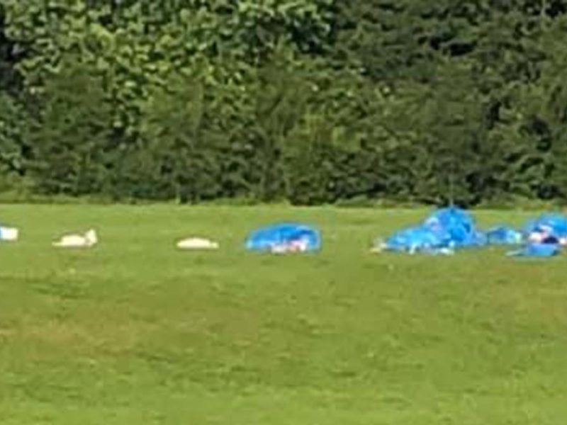 Piles of rubbish left in Beacon Park
