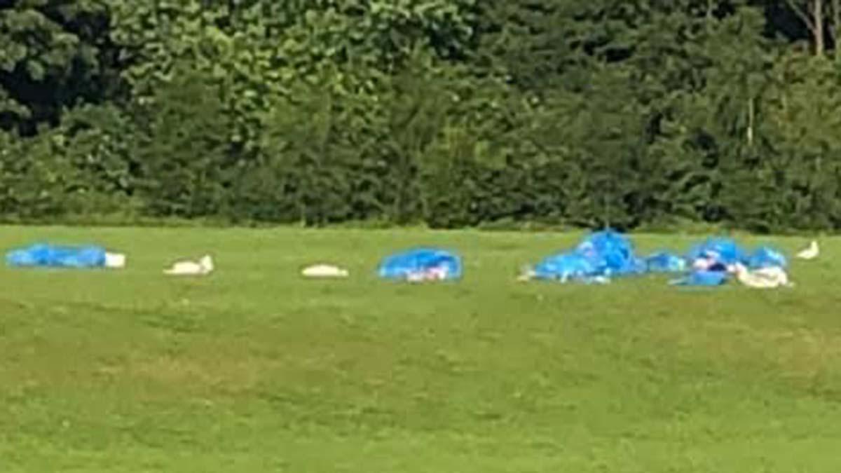 Piles of rubbish left in Beacon Park