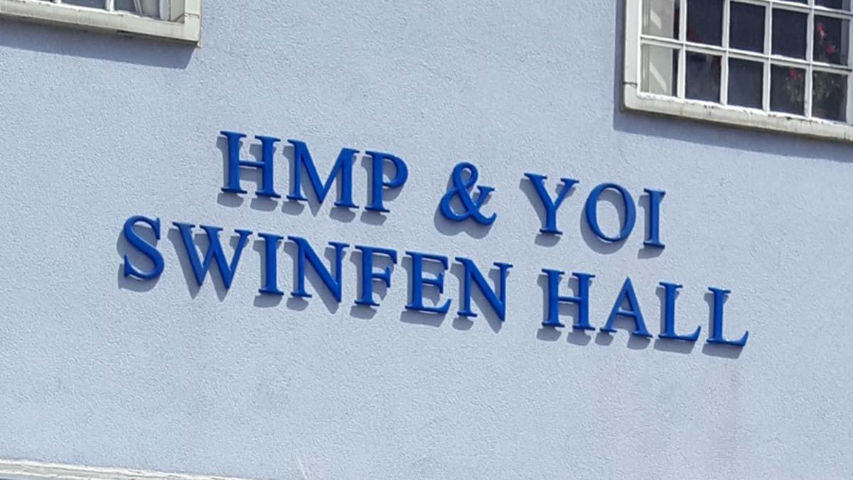 Swinfen Hall prison sign