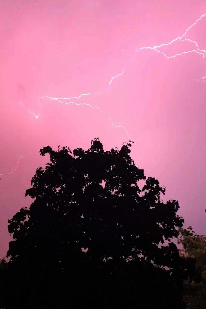 Gavin Adams' picture of the lightning
