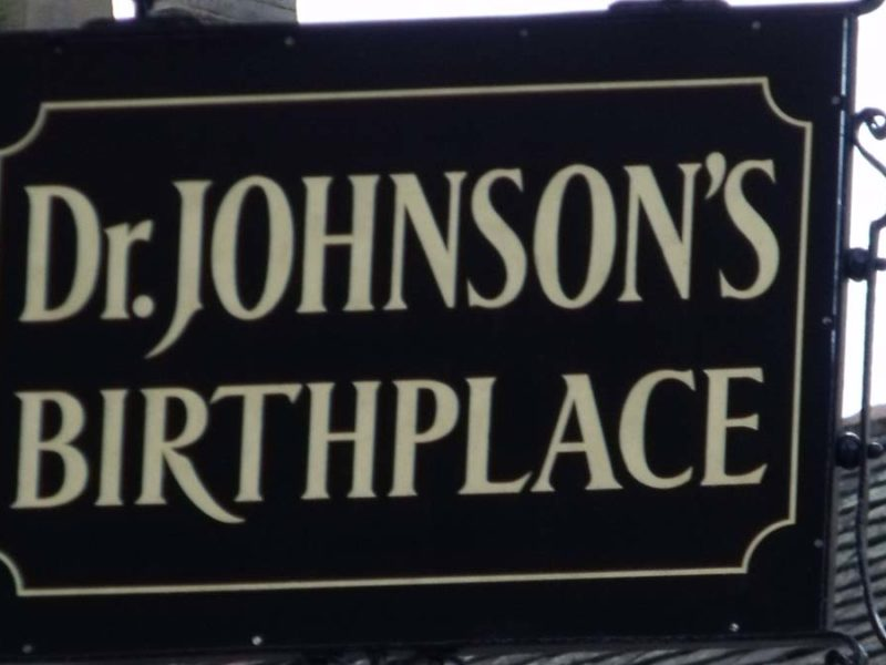 Samuel Johnson Birthplace Museum sign. Picture: Elliott Brown