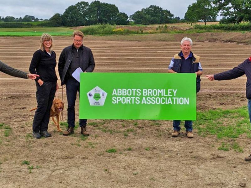 Chris Wood, Louise Haywood, Ian Haywood, John Stevenson from the Abbots Bromley Sports Association with Michael Fabricant MP