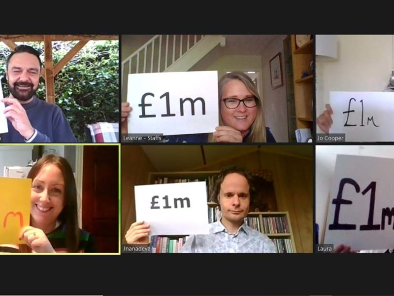 The Community Foundation team celebrating the £1million milestone