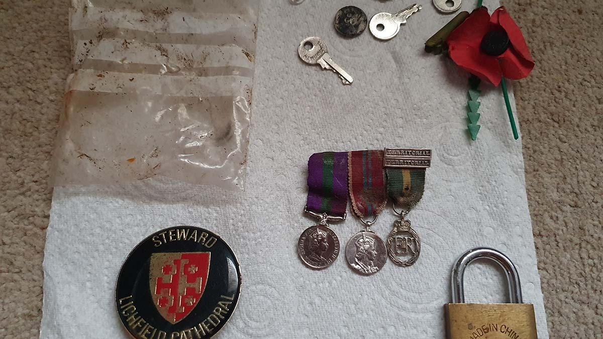 Some of the items found by Lichfield Litter Legends