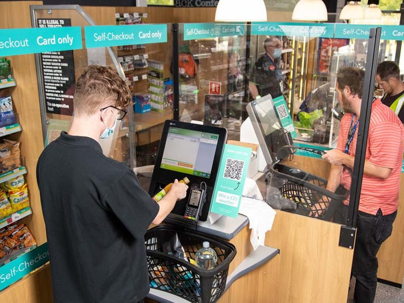 The self-scan checkout at Central England Co-op