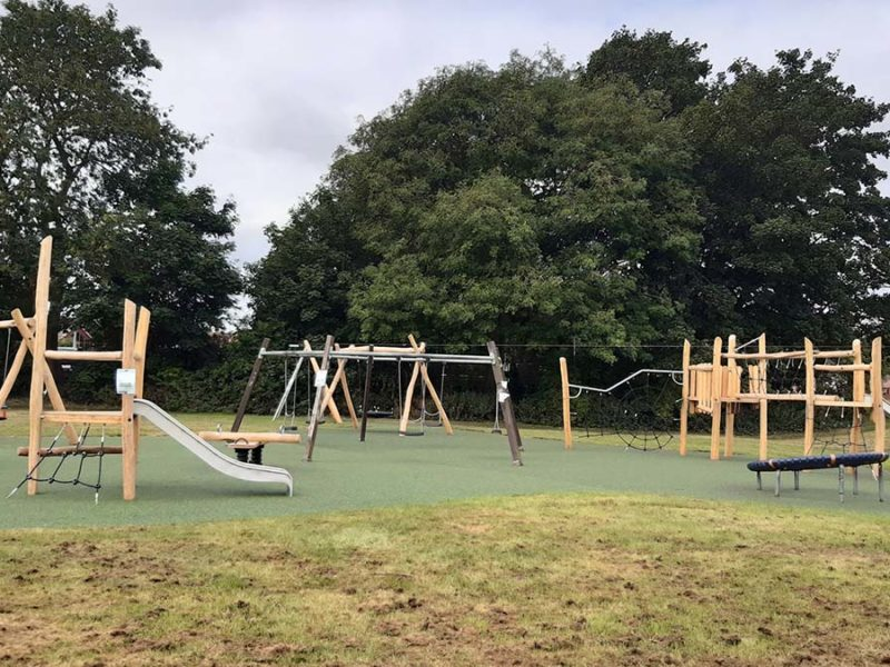 The new play area at Stowe Fields