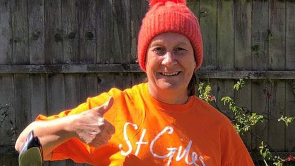St Giles Hospice fundraiser Sue Jones