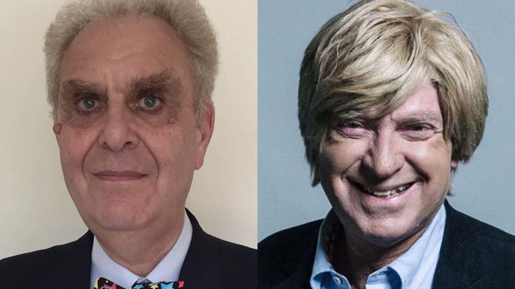 Cllr Hugh Ashton and Michael Fabricant MP