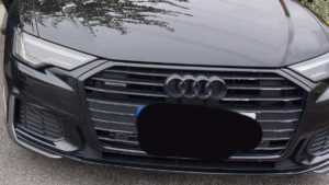 The Audi seized by police in Lichfield