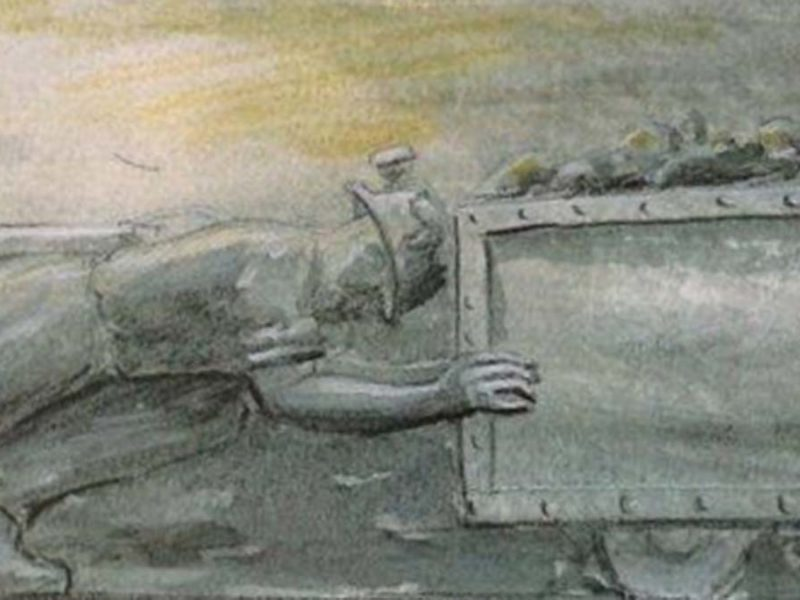 An artist's impression of part of the new memorial to miners