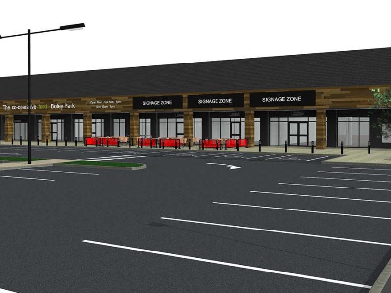 An artist's impression of the new Boley Park store and car park