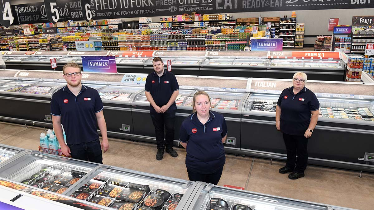 Staff at The Food Warehouse store in Lichfield