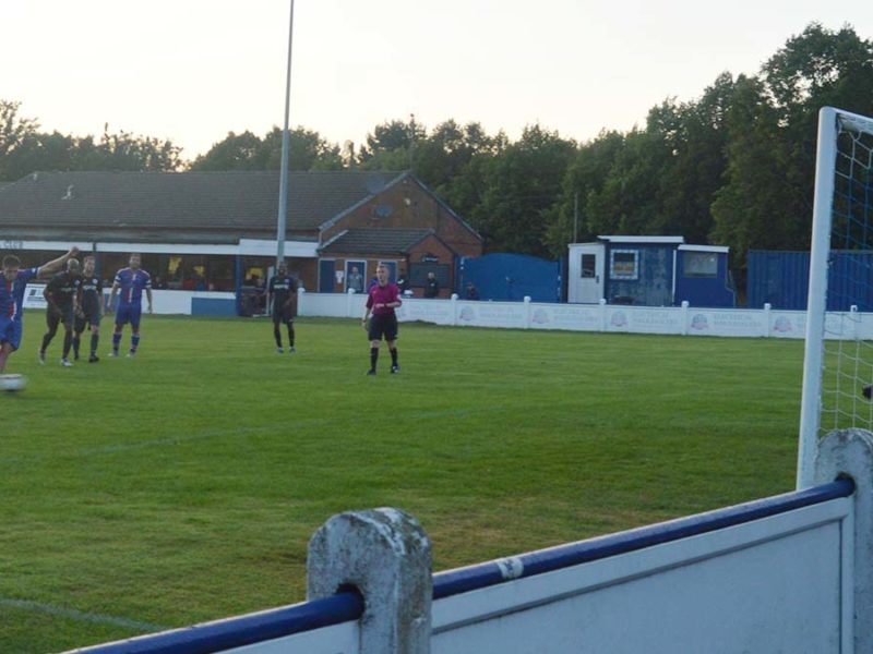 Joey Butlin scores from the penalty spot against Sporting Khalsa. Picture: Paul Mullins