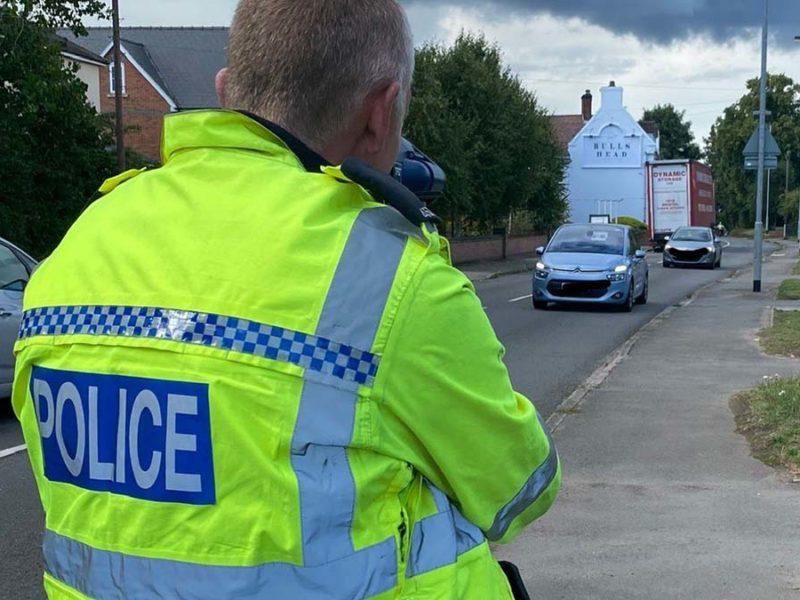Police recording speeds in Shenstone
