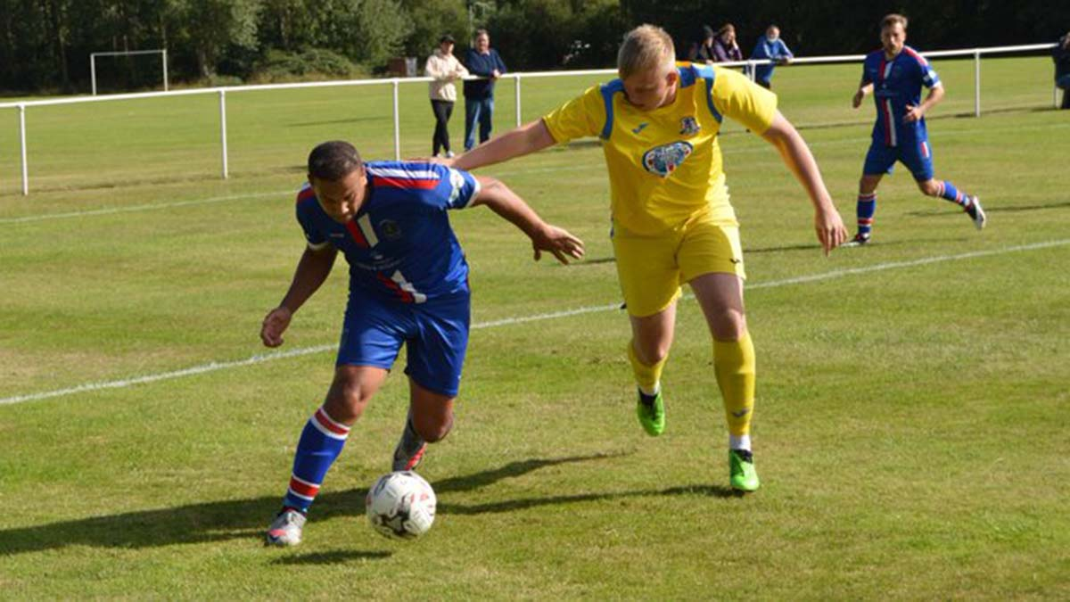 Action from Chasetown's win at Darlaston Town. Picture: Paul Mullins
