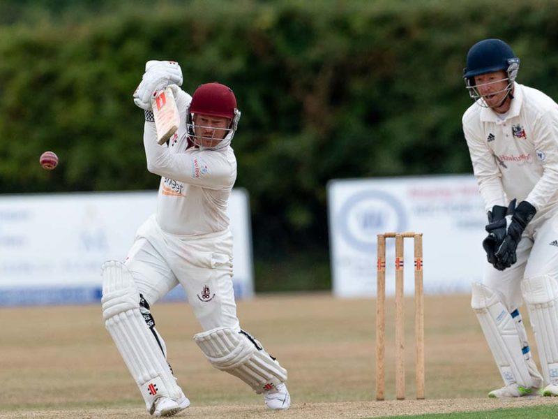 Lichfield's Rich Taylor-Tibbott batting