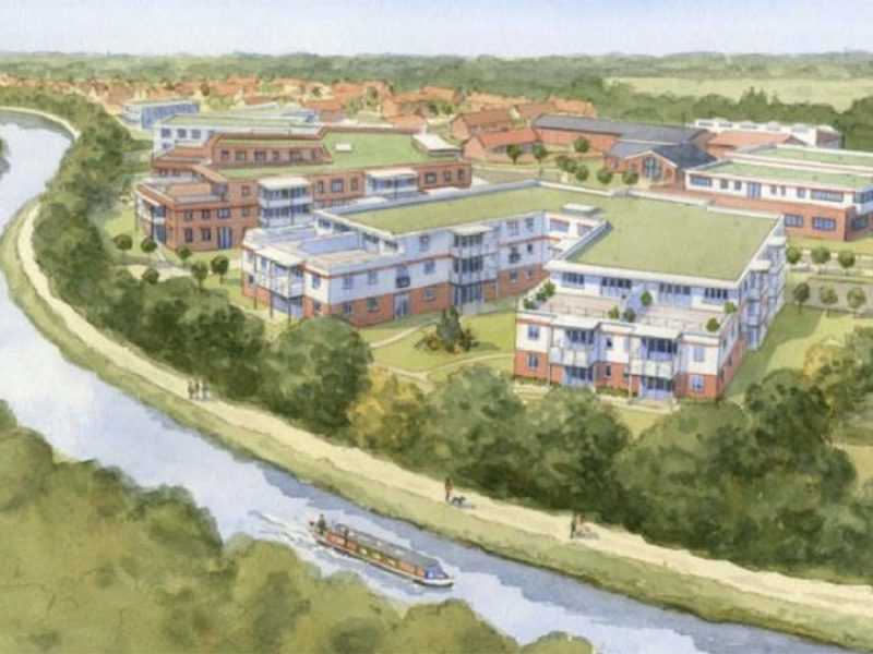 An artist's impression of part of the planned development in Fradley
