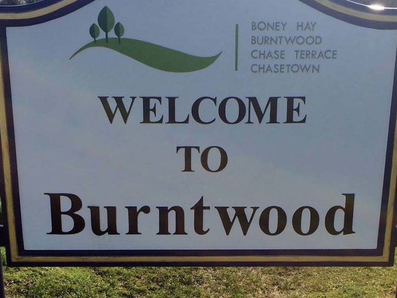 Burntwood sign