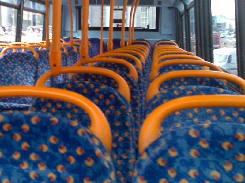 Bus seats. Picture: Mark Hillary