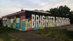 The new Brighter Burntwood mural