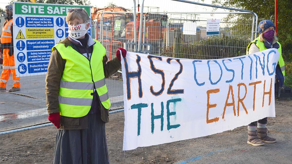 Protestors in Lichfield. Picture: Extinction Rebellion