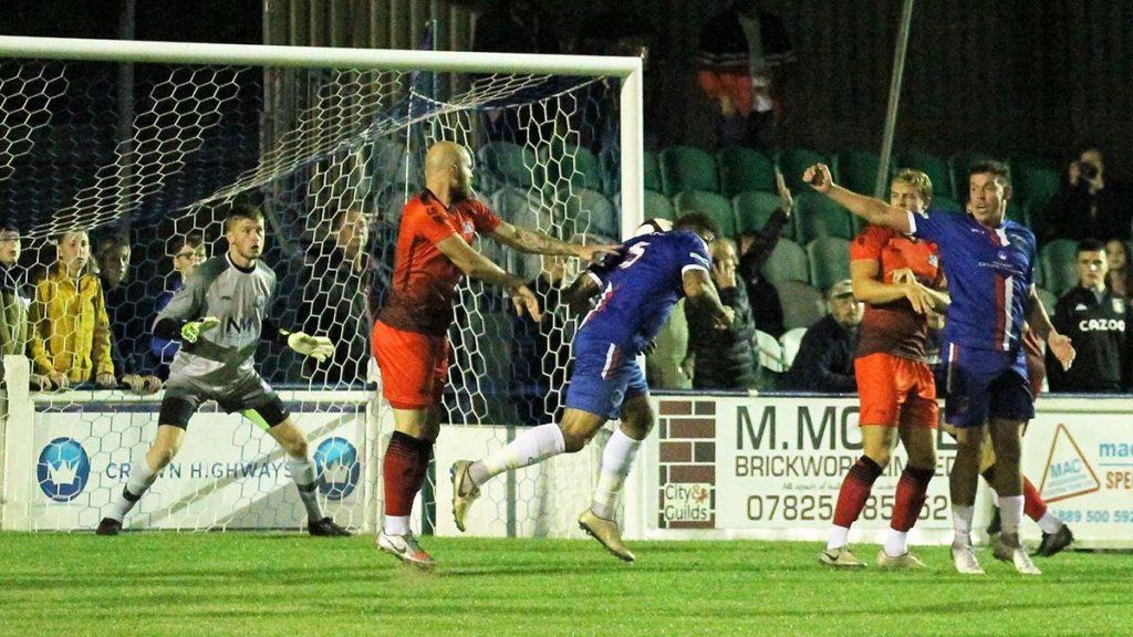 Ryan Wynter scores the winner. Picture: Dave Birt