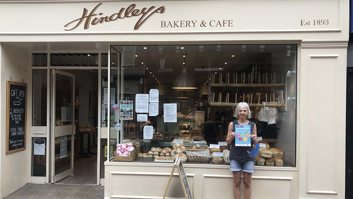 Jackie Beaumont outside Hindleys