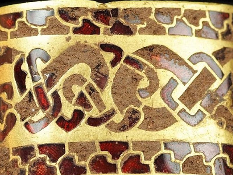 One of the items in the Staffordshire Hoard