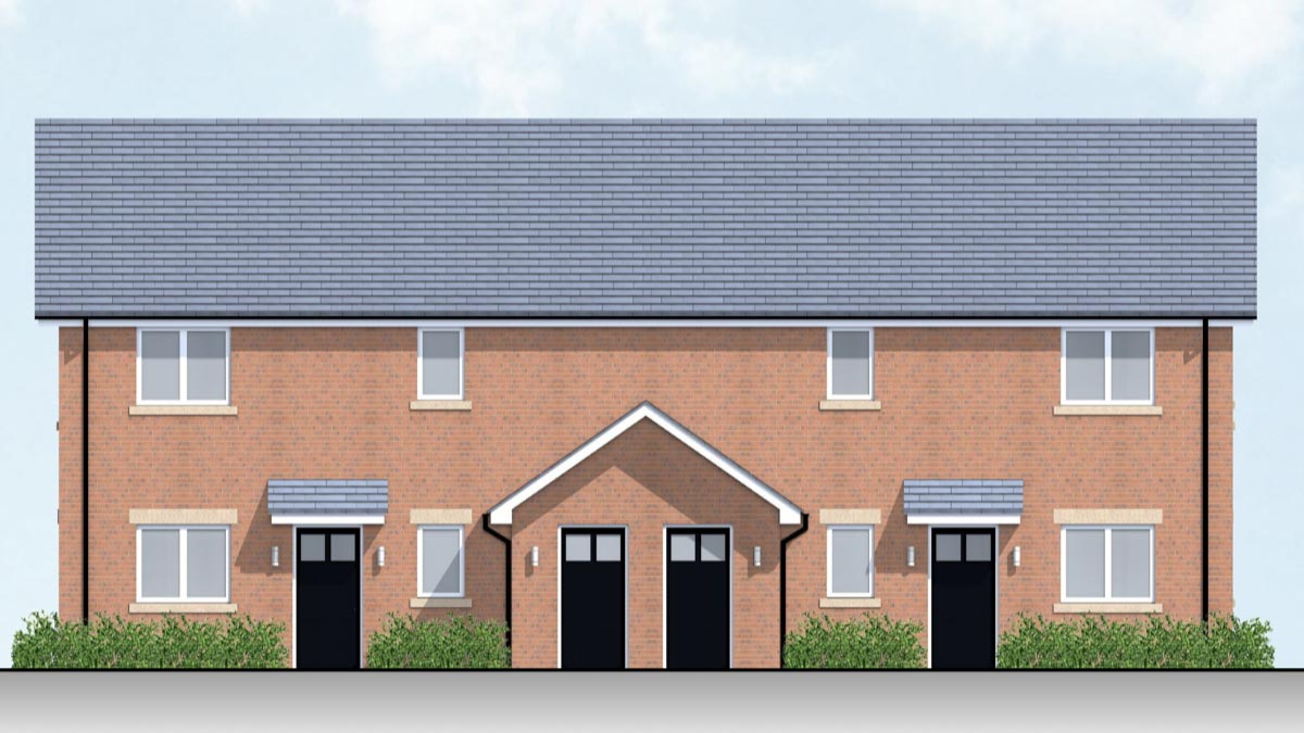 An artist's impression of the properties
