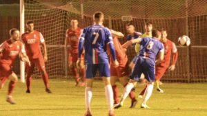 Action from Chasetown's trip to Market Drayton
