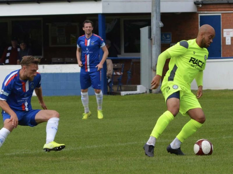 Action from Chasetown's game with Hednesford Town. Picture: Louise Yates