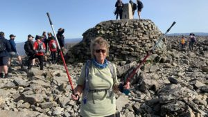 Margaret Broadhead at the top of Ben Nevis