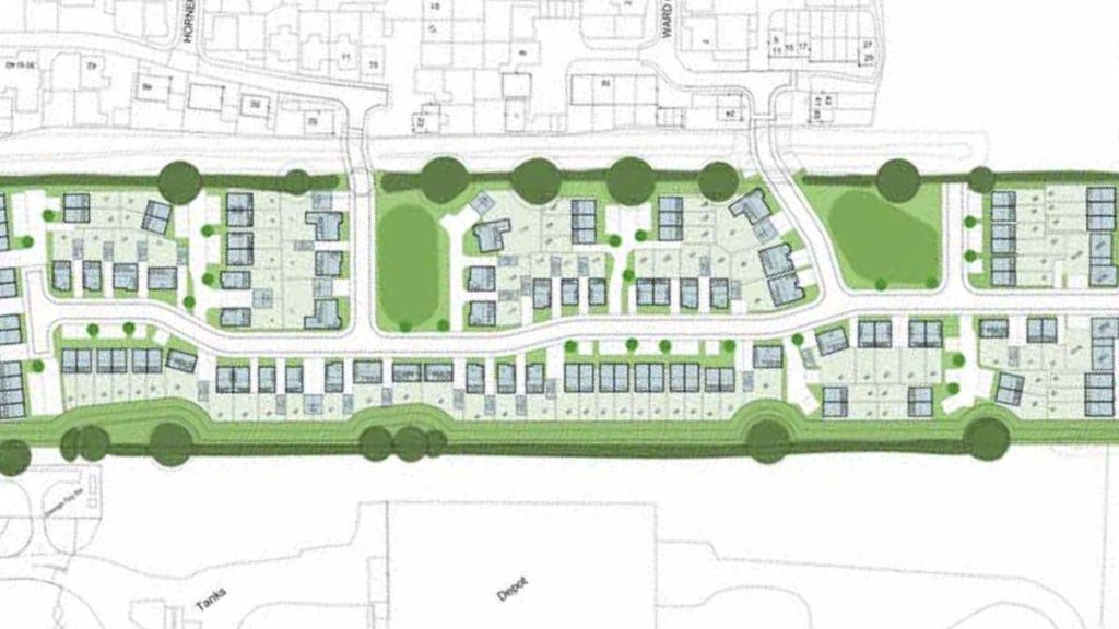 The proposed layout of the new homes in Fradley