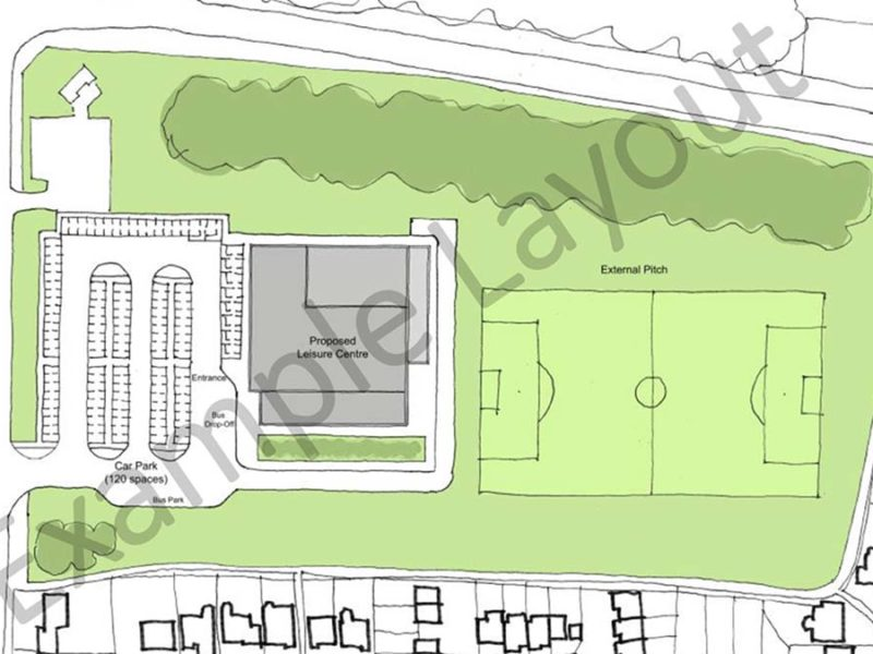 The example layout for the new leisure centre at Stychbrook Park. Picture: Lichfield District Council