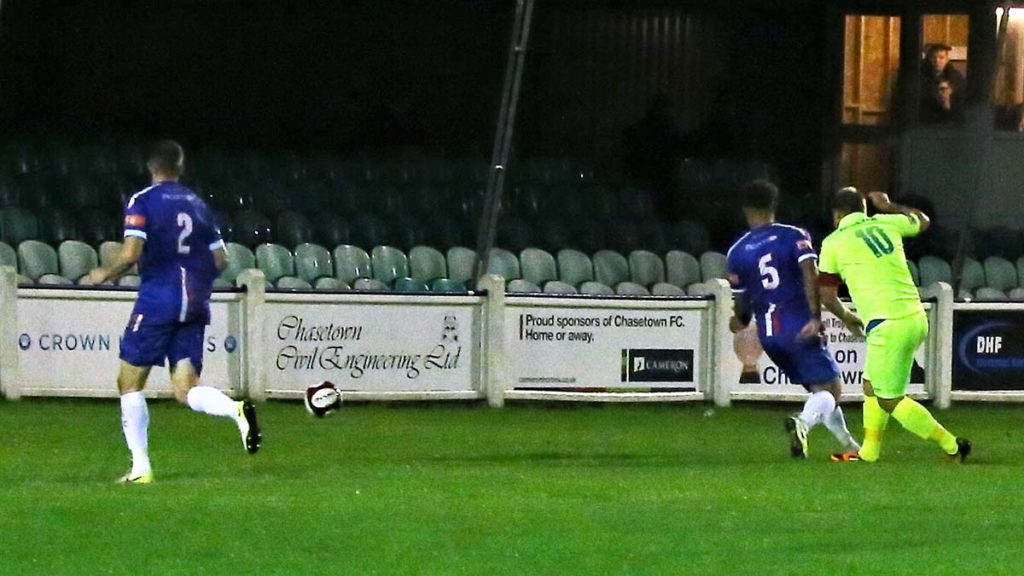Anthony Malbon scores the opening goal. Picture: Dave Birt