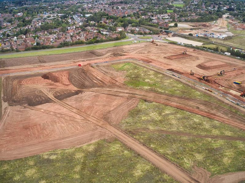 An image capturing preparation work on the new housing development in Lichfield. Picture: Staffordshire Birdseye View Photography