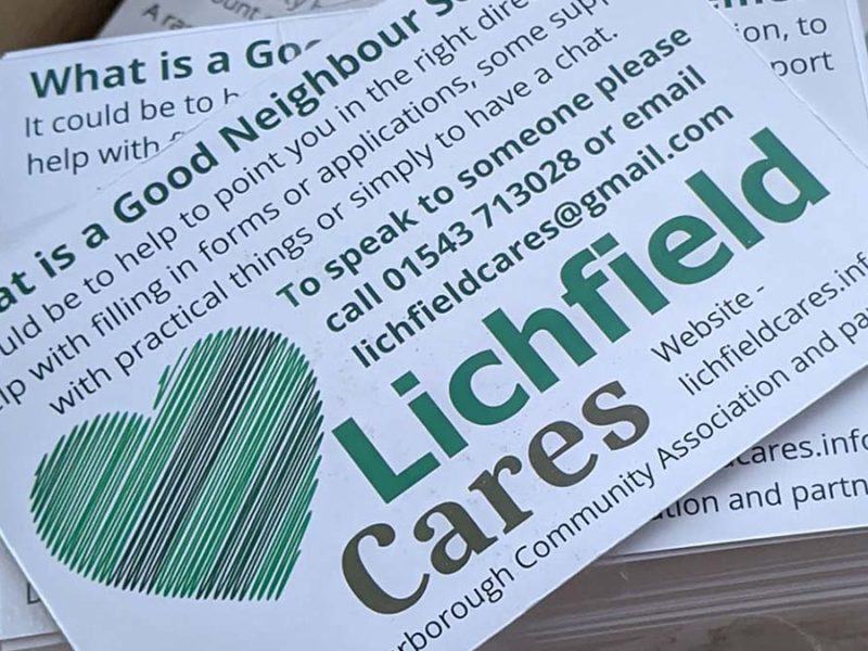 Lichfield Cares postcards