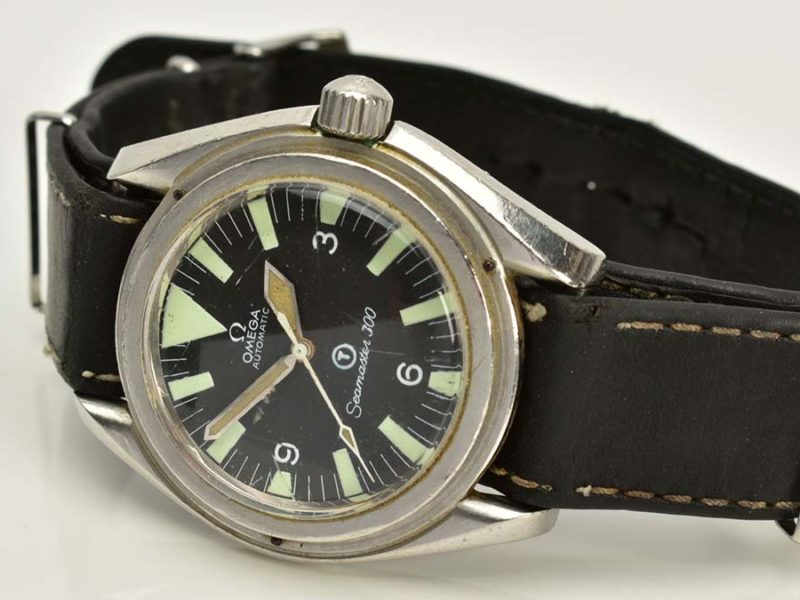 The Omega watch being sold at auction